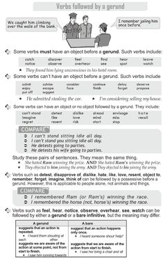 Grade 10 Grammar Lesson 23 Verbs followed by a gerund (1)