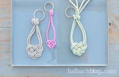 Schlüsselanhänger knüpfen I Keltisches Herz aus Kordel I DIY I Crafts I Knoten I Bänder I Makramee I Valentinstag