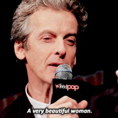 Peter Capaldi gives a marvelous answer to a question about people getting 12th Doctor-themed tattoos. NYCC