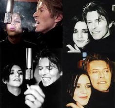 Bowie and Molko.<<  what a sweet lil pair