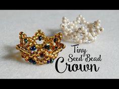 DIY Tiny Seed Bead Crown ¦ The Corner of Craft - YouTube