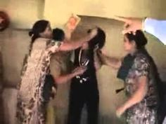 Desi fight - husband beaten by his wife with gf  Part 1