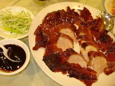 Peking duck - I dream of this Peking Duck, Chinese Restaurant, Dim Sum, Lunches And Dinners, Tan Leather, Crossover, Asian Recipes, Beverage, Main Dishes