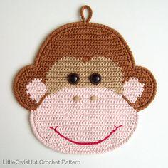 Ravelry: 080 Monkey potholder or decor pattern by LittleOwlsHut