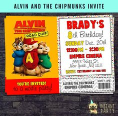 15 Best Alvin And The Chipmunks Birthday Cards Images In 2017