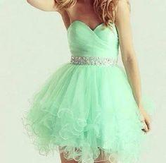 #PromDress #Dress #MintGreen