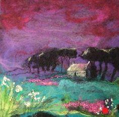 Moy Mackay,Under Purple Mountain - SOLD