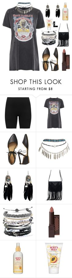 """""""Lights (go down in the city)"""" by wedontneednoeducation ❤ liked on Polyvore featuring SPANX, Topshop, Gap, Wet Seal, WithChic, Domo Beads and Burt's Bees"""