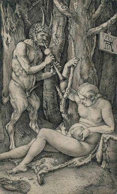 Albrecht Durer (1471-1528) The Satyr Family 1505 (121 x 76 mm)