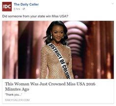 Racist conservatives demand segregated beauty pageant after black woman is crowned Miss USA. It's 2016 folks!