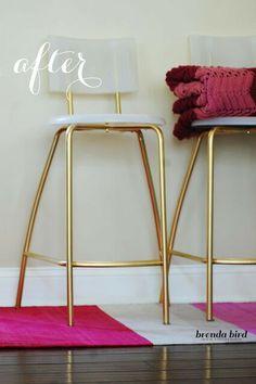 Ikea hack gold stools