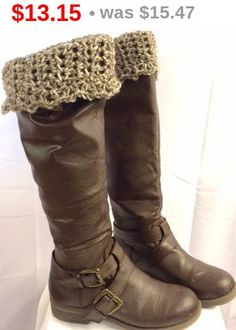 Boot Cuffs, Crocheted Leg Warmers, Boot Toppers, Sock Toppers, Earth-tone Brown Colors, Winter Accessories, Girls/Women's/Teens Gifts - pinned by pin4etsy.com