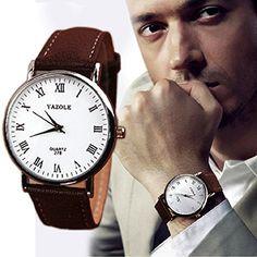 Ularmo Herren Uhr Watch Luxusmode Kunstleder Mann Analog Quarz Armbanduhr Brown Band - http://uhr.haus/ularmo/ularmo-herren-uhr-watch-luxusmode-kunstleder