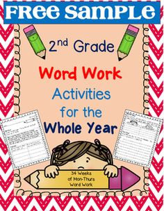 Word Work Weekly Activities for 2nd Grade - FREE SAMPLE