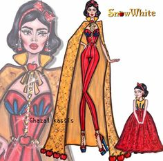 'Snow White and her little girl' by Ghazal Kassis| Be Inspirational ❥|Mz. Manerz: Being well dressed is a beautiful form of confidence, happiness & politeness