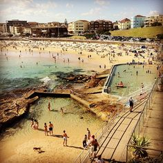 Summer in the city, as seen from North Bondi, Sydney, Australia Perth, Brisbane, Melbourne, Sydney Australia, Australia Travel, The Places Youll Go, Places To See, Bronte Beach, Australian Beach
