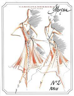 Another Carolina Herrera sketch for Morgen.