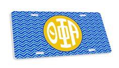 Theta Phi Alpha Monogram License Plate