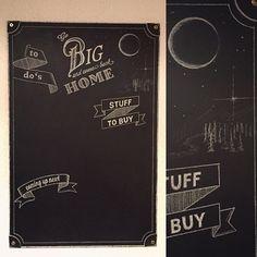Chalkboard painting home sweet home #chambreto #chalkboarddesign #typography #illustration #chalkboard #graphicdesign #moonandstars #gobig #gobigandcomebackhome #homesweethome