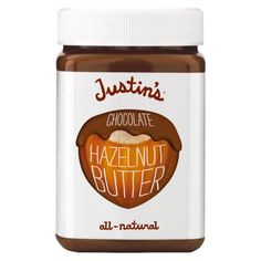 Justin's Chocolate Hazelnut Butter. The healthy alternative. Unlike Nutella, this vegan product is not comparable to eating a snickers bar! Pure plant-based chocolatey love.