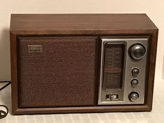Vintage SONY ICF-9650W Fidelity Sound Shelf Desk AM/FM Radio #Sony