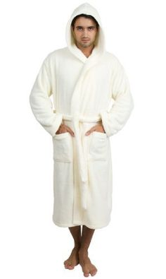 """TowelSelections Plush Hooded Bathrobe - Luxury Spa Robe for Women and Men, Super Soft and Warm, Made in Turkey TowelSelections. $49.95. Two different sizes available Small/Medium and Large/X-Large. Small/Medium Length: 44"""" and Waist: 52"""", Large/X-Large Length: 50"""" and Waist: 56"""". 100% Plush Polyester Fleece, Machine Washable. Wash in cool water. Tumble dry low heat.. Unisex Plush Hooded Bathrobe for Women and Men. Made in Turkey"""