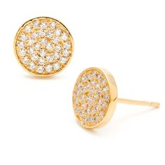 Pristine Circle Stud Earrings