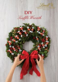 Dress your door with LINDOR this season! Welcome friends and family into your home with this DIY Truffle Wreath, a delicious twist on a timeless decoration.