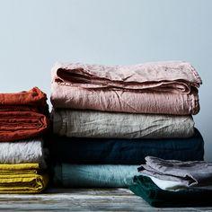 Hawkins New York Simple Linen Bedding Set, Queen Size, 16 Colors Linen Sheets, Bed Linen Sets, Linen Bedding, Linen Fabric, Sheets Bedding, Ruffle Bedding, Black Bedding, Mustard Bedding, Queen Size Sheets