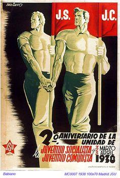 Propaganda from Spanish Civil War, 1938 Revolution Poster, Spanish War, Propaganda Art, Political Posters, Party Poster, Old Ads, Sociology, Image Macro, Civilization