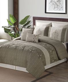 Love this Brown & Taupe Grace Seven-Piece Comforter Set on #zulily! #zulilyfinds
