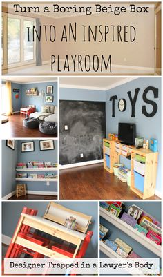 Create an inspiring playroom for your kids!  This room reveal is full of awesome ideas!  | Designer Trapped in a Lawyer's Body