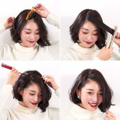 ヘアセットは前髪で印象が大きく変わることを知っていますか。マンネリしがちなヘアスタイルでも、前髪をアレンジすることで可愛さアップ♡今回は簡単にできる前髪アレンジをご紹介します。 Hair Arrange, Hair Designs, Short Hair Styles, Hair Makeup, Hair Beauty, Make Up, Hairstyle, Hipster Stuff, Maquillaje