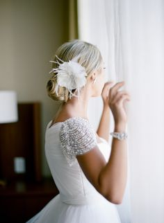 #hair-accessories, #hairstyles Photography: Tanja Lippert - www.tanjalippertphotography.com Read More: http://www.stylemepretty.com/2014/09/23/timeless-california-wedding-in-shades-of-pink/