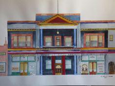 """Palace Hotel"" Prescott, AZ. (18"" X 24""). 2011. Watercolor by Colin Claxon"