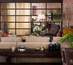 Studio Apartment Brick Wall brick wall studio apartment inspiration | living room designs