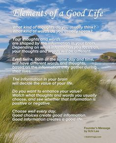 founders-message-elements-of-a-good-life