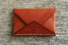 Made in USA Brown leather card holder 1