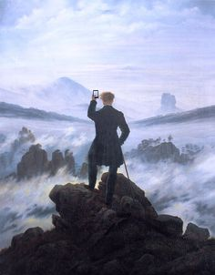 What Your Favorite Art History Figures Would Look Like If They Were Addicted To Technology