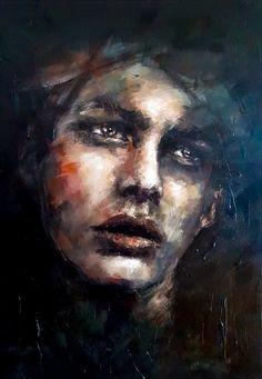 """""""Beyond"""". Original Painting. Acrylics on deep edge canvas. 70x100cm. Acrylic Portrait Painting, Acrylic Art, Buy Art Online, Surreal Art, Original Paintings, Drawings, Artwork, Artist, Pictures"""