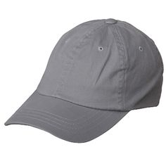 Washed Polo Cap (one size)-Grey