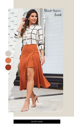 Fashion Tips Color .Fashion Tips Color Casual Skirt Outfits, Dress Outfits, Cool Outfits, Fashion Dresses, Funky Dresses, Western Dresses, Cute Skirts, Fashion Tips For Women, Casual Looks