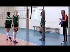Volleyball. Girls. Training. Part 4 - YouTube