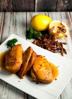 sweet garlic chicken in crockpot (paleo) Low Carb Chicken Recipes, Paleo Recipes Easy, Primal Recipes, Whole 30 Recipes, Diet Recipes, Cooking Recipes, Paleo Meals, Turkey Recipes, Diabetic Recipes