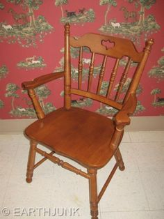 Tell City Arm Chair 8049 Hard Rock Andover Maple Early American Colonial Style #TELLCITYCHAIRCOMPANY #Country