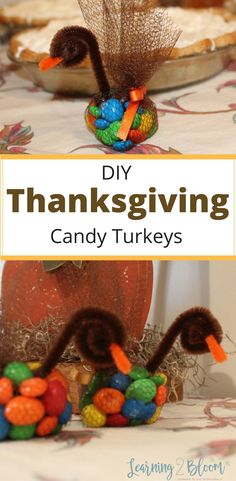 diy Thanksgiving candy turkey table toppers and treats will be a hit with the kids. Your whole family will enjoy these and they will be a simple and cute addition to your Thanksgiving holiday table.