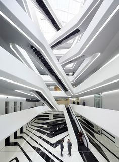 Budynek biurowy Zaha Hadid Architects w Moskwie. / Office building in Moscow  by Zaha Hadid Architects. #moskwa #moscow #ZahaHadid