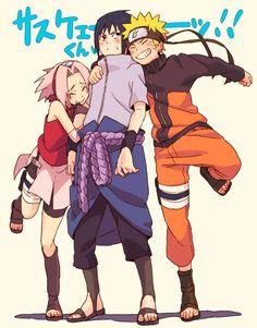 Team 7 / Team Kakashi : Sakura Haruno, Sasuke Uchiha e Naruto Uzumaki. Naruto Team 7, Naruto And Sasuke, Anime Naruto, Naruto Shippuden Sasuke, Itachi Uchiha, Naruto Sasuke Sakura, Naruto Cute, Naruto Funny, Sakura Haruno