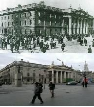 All the text and photographs below have been compiled by Derek Molyneux and his daughter Shannon. Well done to them both, they have and are doing outstanding work in remembering the 1916 Rising. Ireland Pictures, Old Pictures, Old Photos, Ireland 1916, Dublin Ireland, Then And Now Pictures, Waterford Ireland, Ireland Homes, Irish Roots