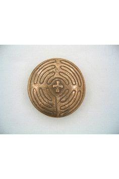 Bronze Pocket Prayers - Labyrinth with Cross